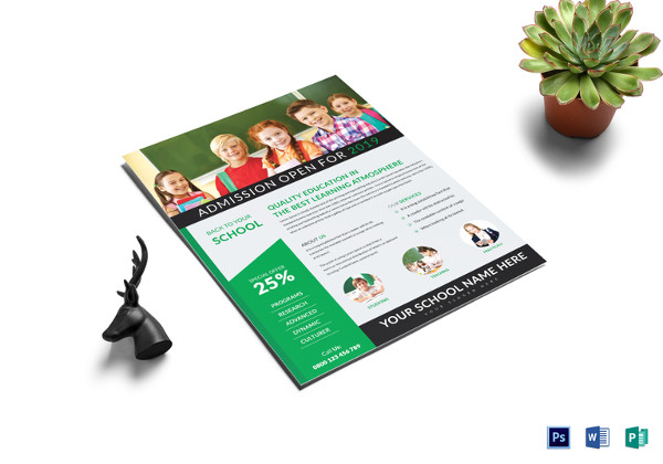 quality education flyer template