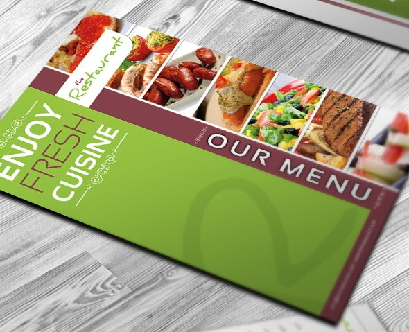 Psd Restaurant Brochure Coffee Shop Brochure  Freecreatives
