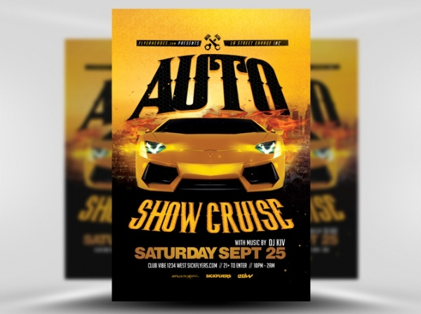 Racing Auto Show Flyer Template