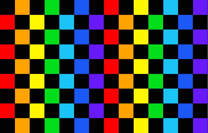 Rainbow Checkerboard Pattern For Free