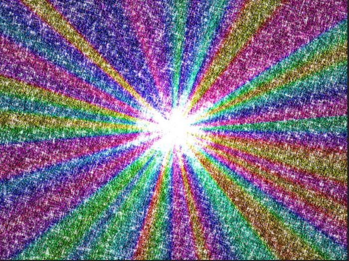 rainbow glittering digital pattern