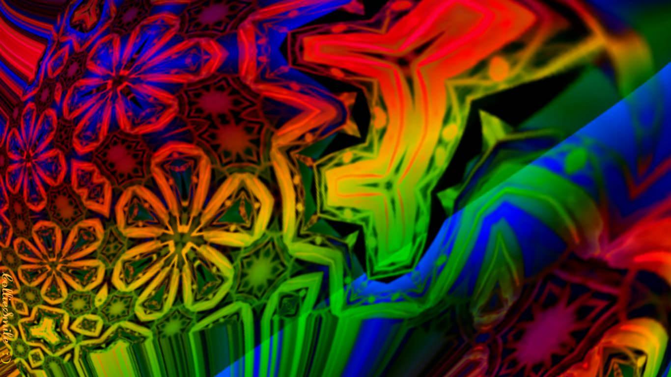 Rainbow hippie Wallpaper