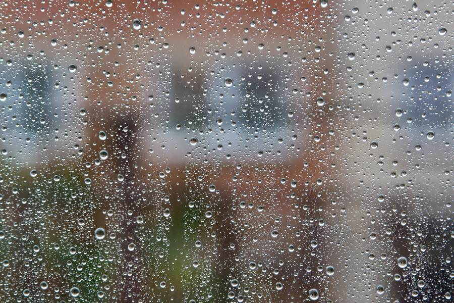 Raindrop Pane Glass Texture