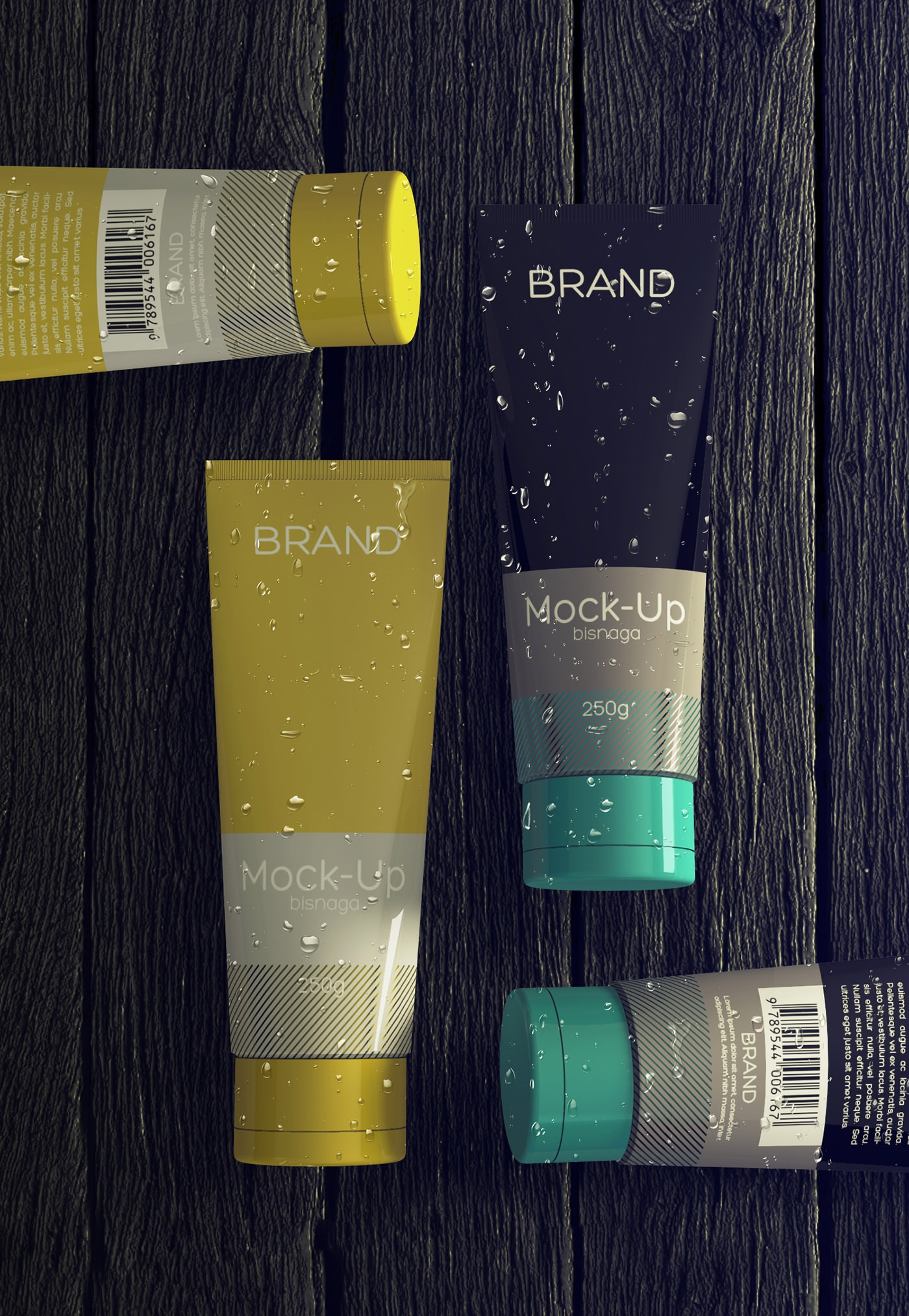 realistic cosmetics packaging free mock up