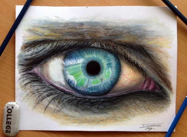 Realistic Pencil Drawing of Eye