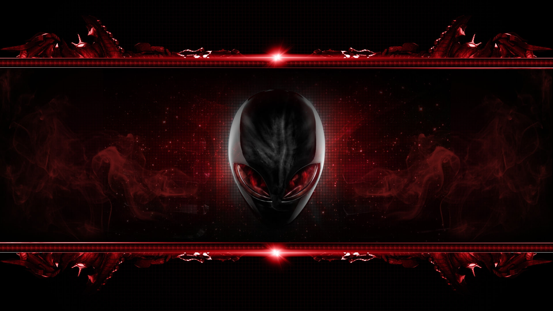 Red & Black Alienware Wallpaper