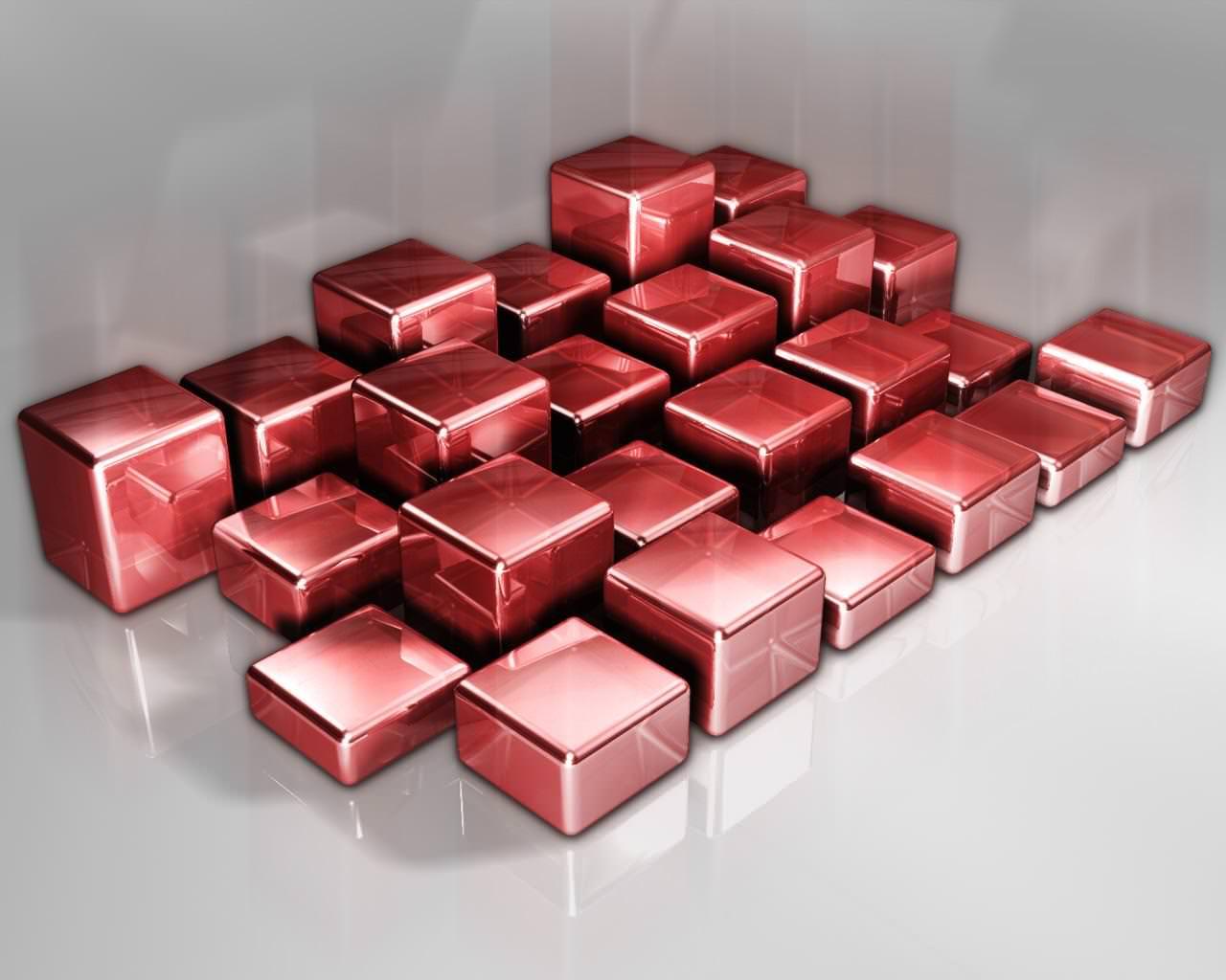 Red Cubes Wallpaper