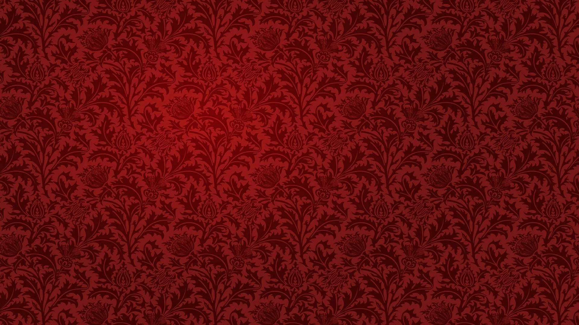 Red Floral Art Wallpaper