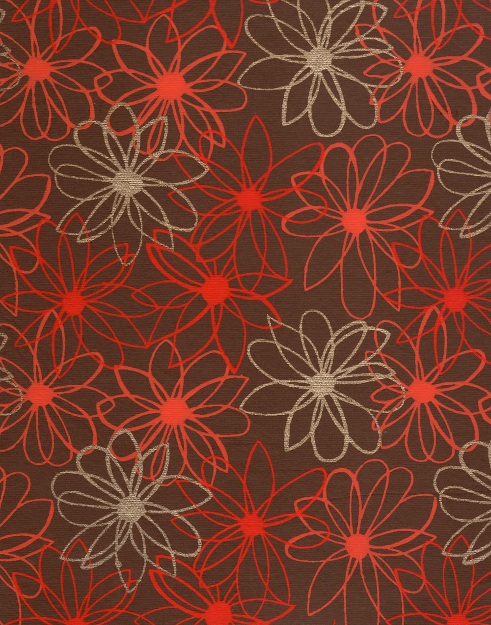 Red Floral paper Textures