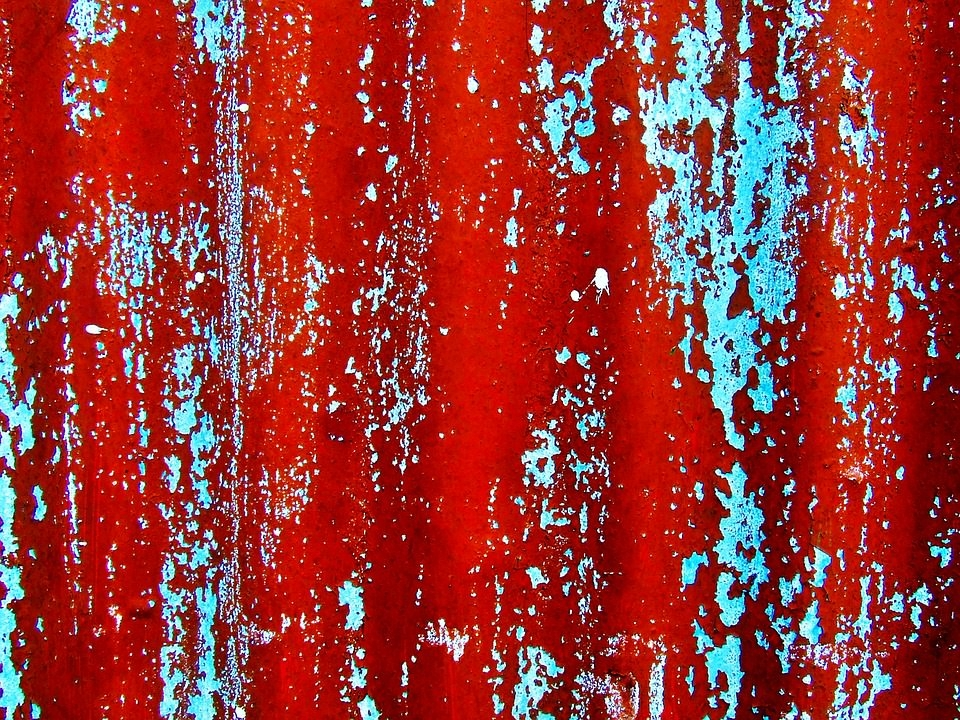 Red Grungy paint Background