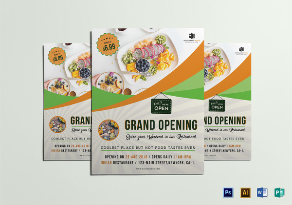 Restaurant Grand Opening Flyer to Edit