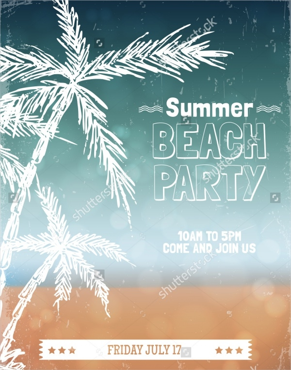 21+ beach party invitation designs - psd, vector eps, jpg download, Party invitations
