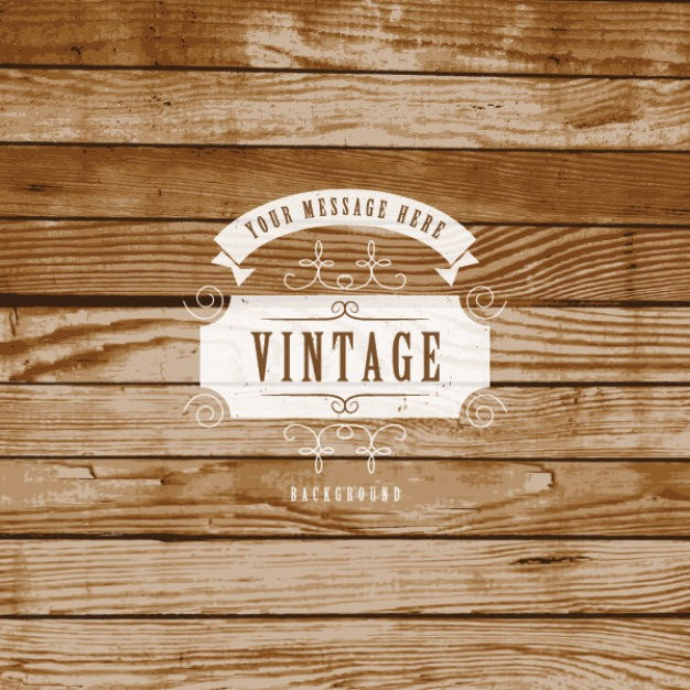 Retro Label on Rustic Background