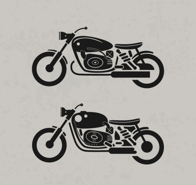 Retro Motorcycles Free Vector Graphics