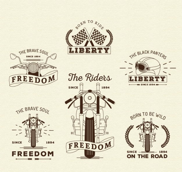 Retro Motorcycles Insignias Collection