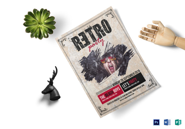 Retro Style Concert Flyer Template
