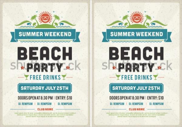 Retro Summer Party Design Invitation
