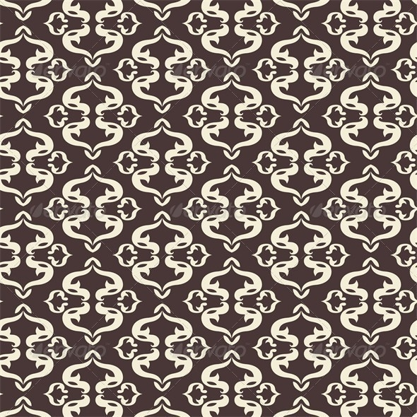 Retro Swirl Arabic Pattern