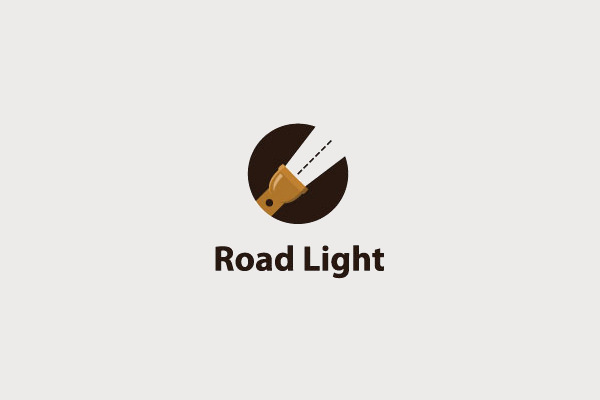 Road Light Torch Logo For You