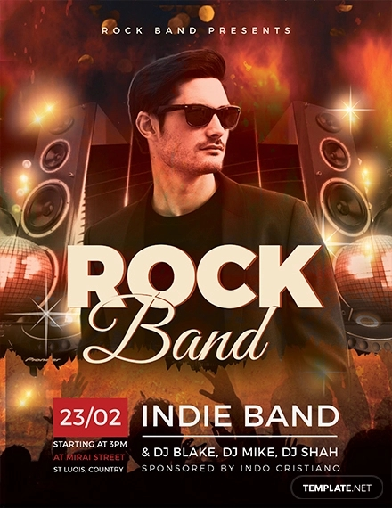 rock band flyer