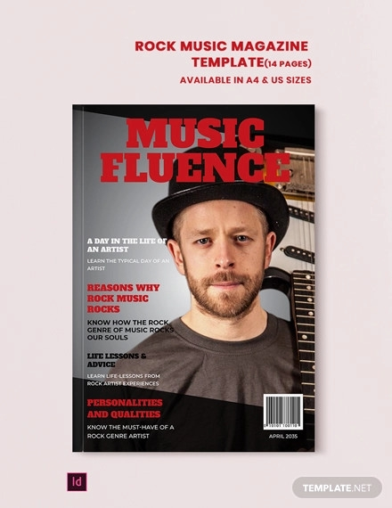 rock music magazine template