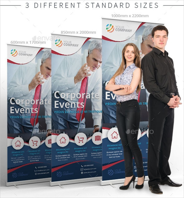 Roll Up Banner for Corporate