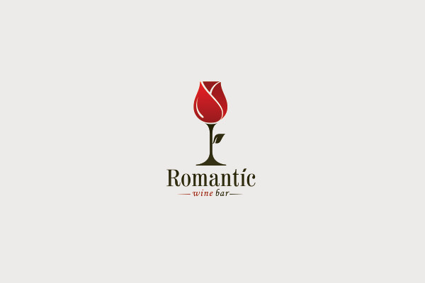 21 wine logos logo designs freecreatives romantic wine logo voltagebd Image collections