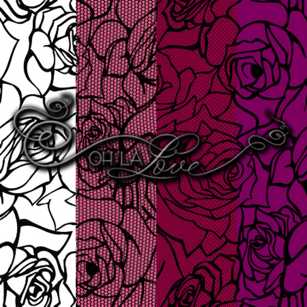 Rose Lace Pattern Background