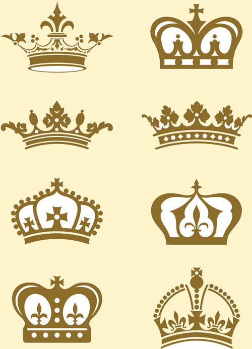 Royal Crown Vintage Design Vector