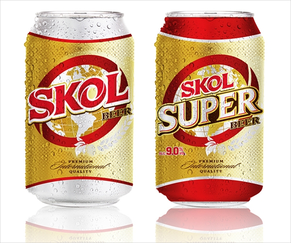 SKOL Beer Can Packaging Design