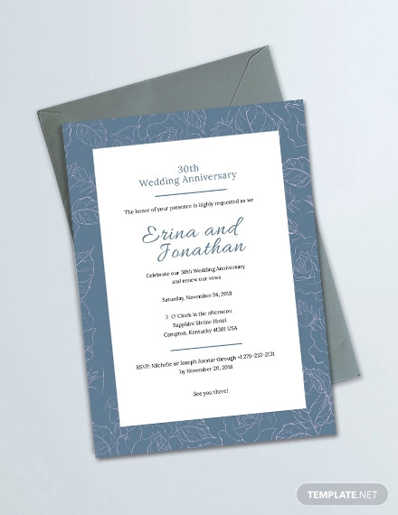 sample wedding anniversary invitation card