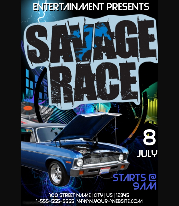 Savage Race Event Flyer Template