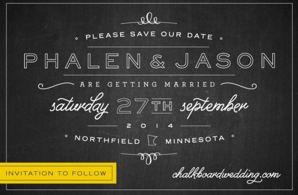 save our date back postcard invitation