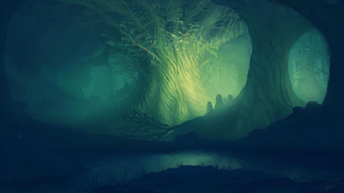 scared tree wallpaper