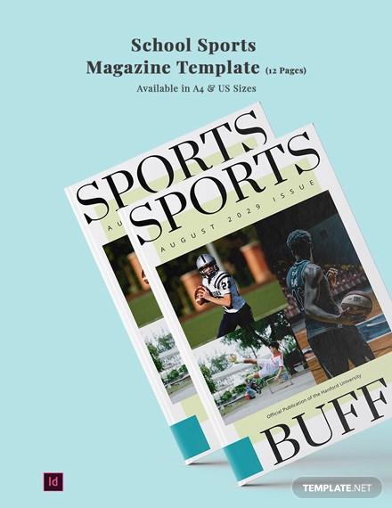 school sports magazine template