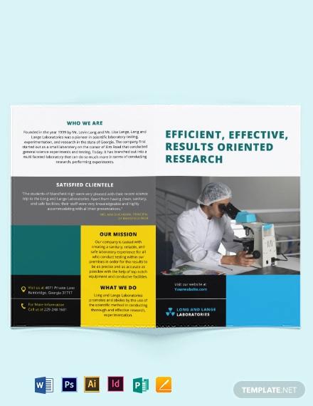 science bi fold brochure template