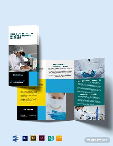 science tri fold brochure template