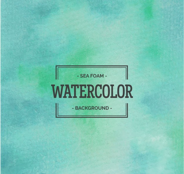 Sea Foam Watercolor Background