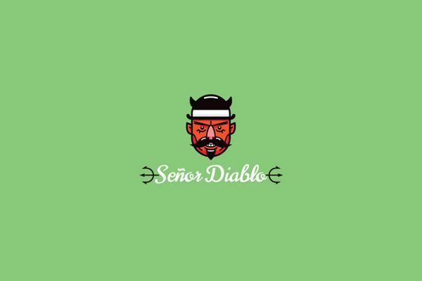 Senor Diablo Hipster Logo