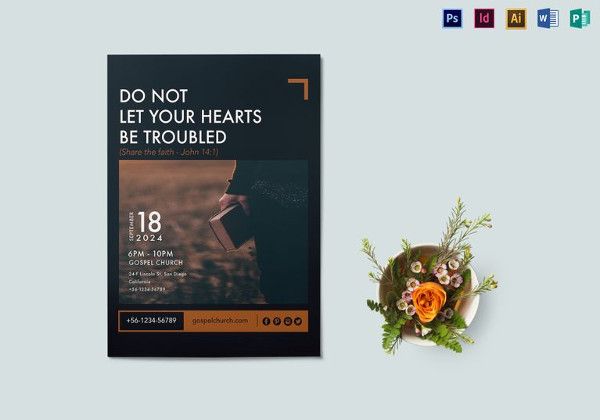 share the faith flyer template
