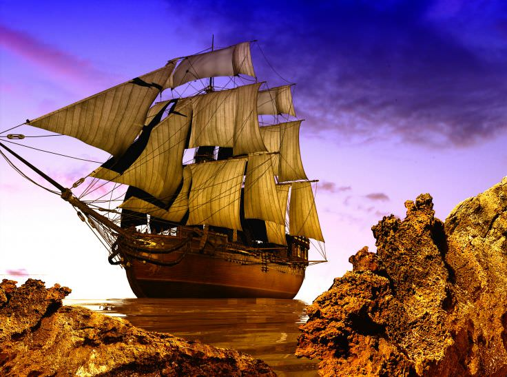 Ship Sailing 3D Graphics Wallpaper