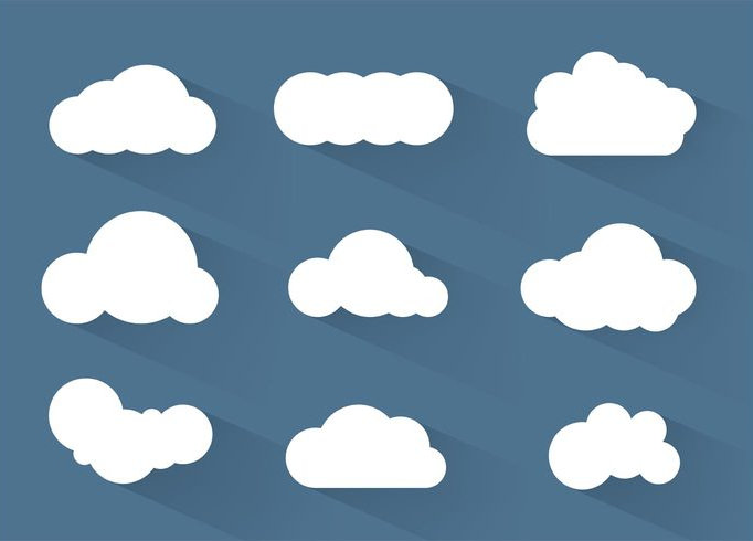 Simple Cloud Vectors Illustrator