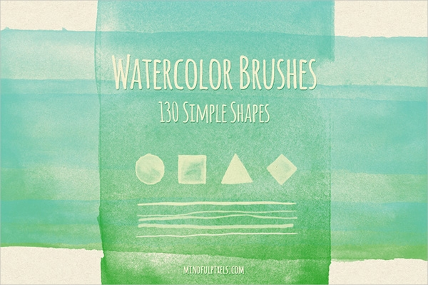 Simple Shapes Watercolor Brushes