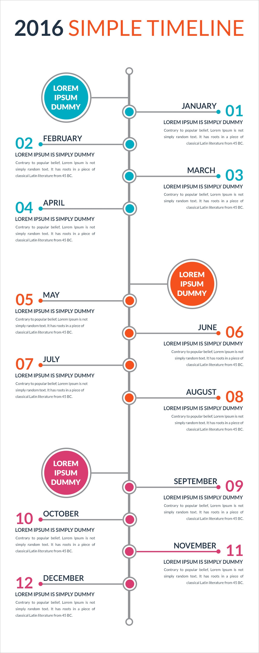 free 4  timeline template designs in psd