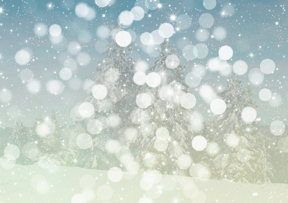 Snow Bokeh Background Wallpaper
