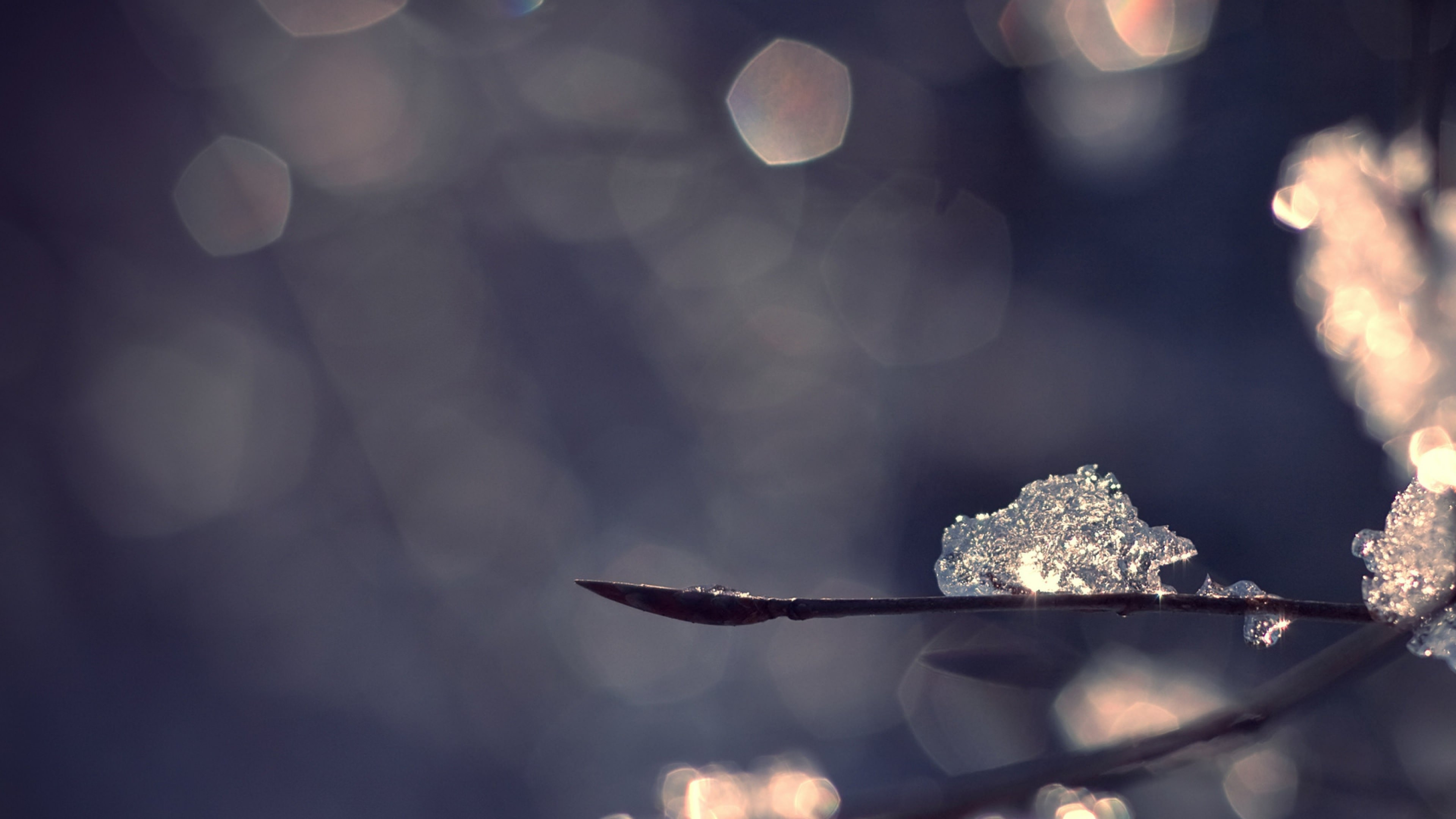 Snow Bokeh Background
