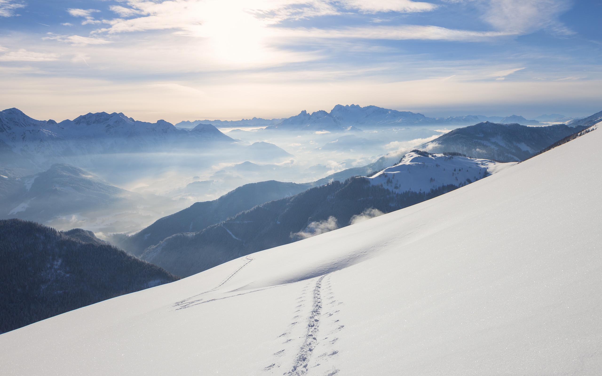 snow mountains windows 10 wallpaper