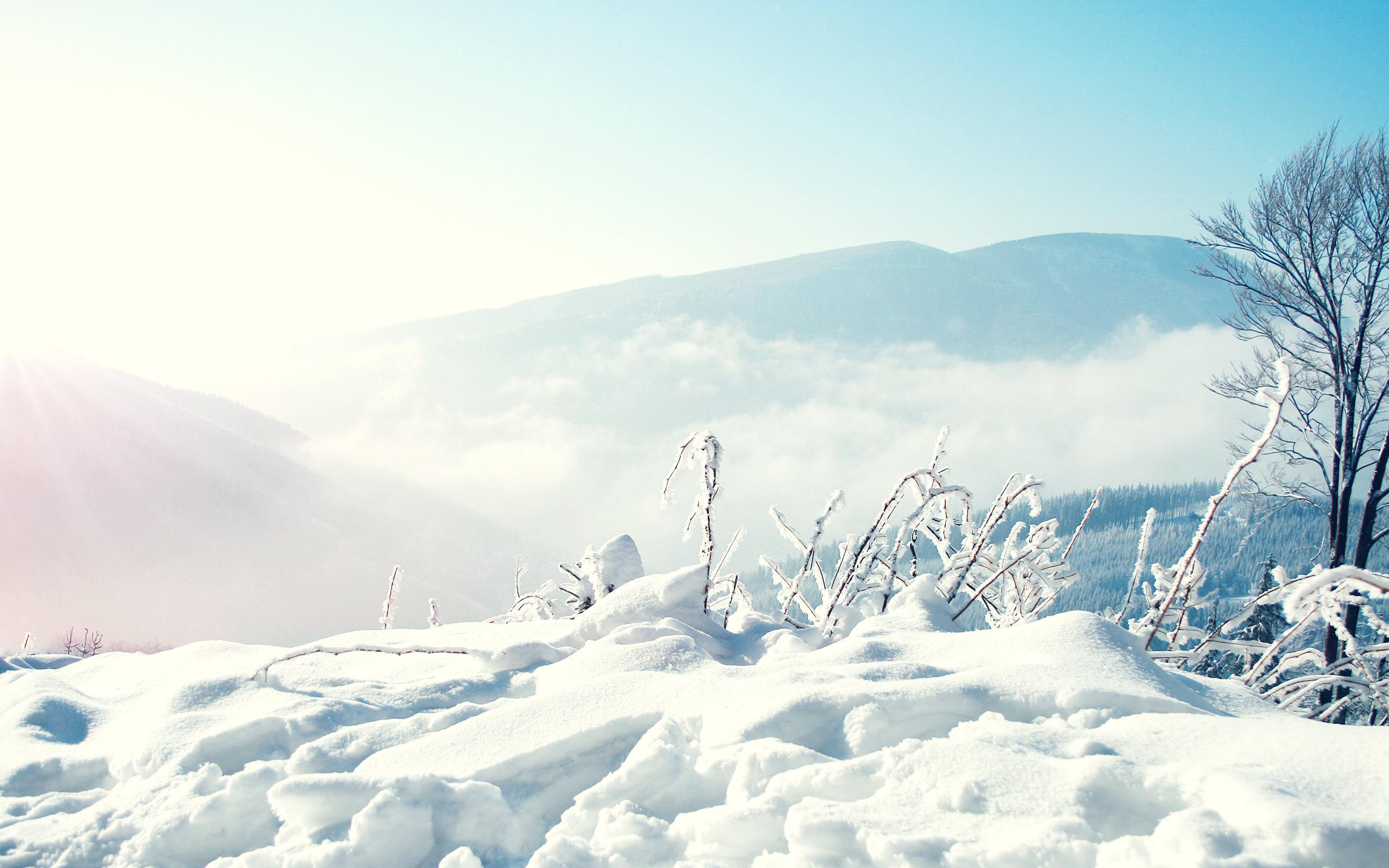 snow winter mountains wallpaper