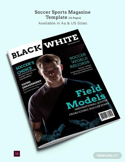 soccer sports magazine template