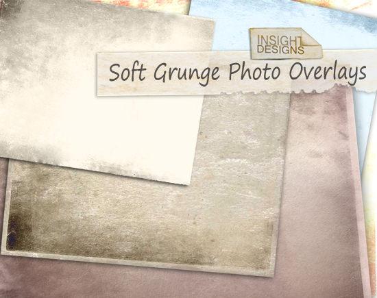 Soft Grunge Overlays Textures